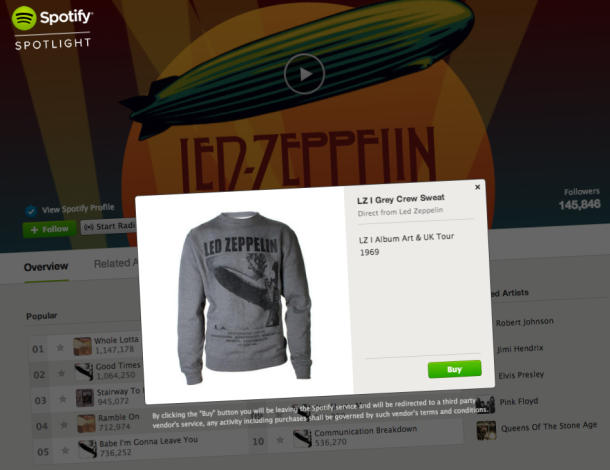 Spotify adds in-app merch stand to artist profiles | Music - CNET News